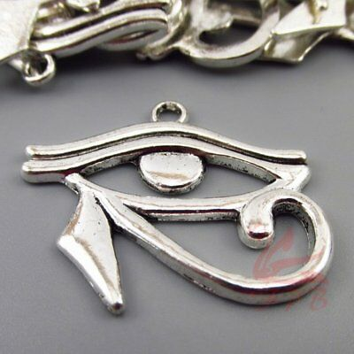 Egyptian Eye of Horus Charms 33mm Antiqued Silver Plated Pendant - 4/15/30PCs