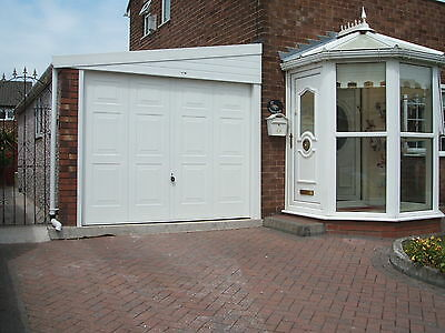 """Concrete Garages The ' Lean To' Apex 8 ' 3"""" Width - Yorkshire Prices   *"""