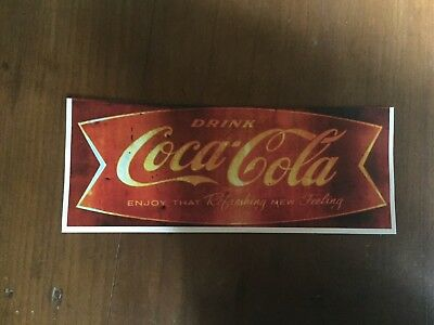 "TIN SIGN ""CocaCola"" Refreshing Rustic Decor Mancave Kitchen Soda Real Thing"