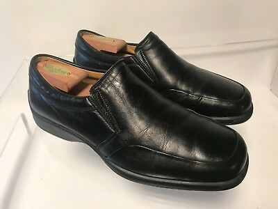 Bruno Magli Mens Ashton Black Driving Slip On Dress Casual Loafers SZ 7.5M Italy