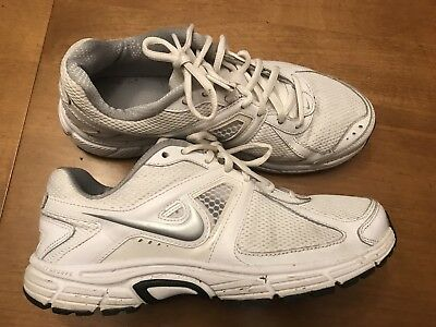 online store 73250 f299e Nike Dart 9 Womens Size 9 Running Athletic Shoes White W Silver