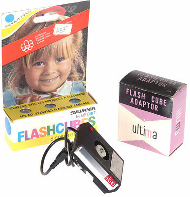 Ultima Flash Cube Adapter for Camera Hot Shoe with Cubes - In Box!