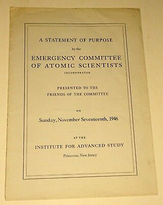 Historic 1st Publication of the Emergency Committee of Atomic Scientists