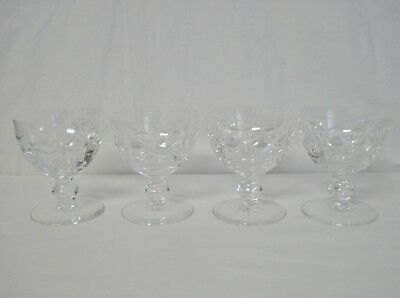 4 Waterford Crystal Kerry Liquor Cocktail Glasses Old Ball Stem Glass Set EUC