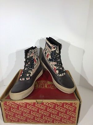 ab7a5669cf Vans Camden Hi Zip Womens Size 8.5 Isle Espresso High Top Fashion Sneaker  XB-44