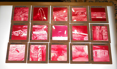 Lot of 15 Vintage 35mm 2x2 Souvenir Photo Slides - Mammoth Cave, KY - Faded