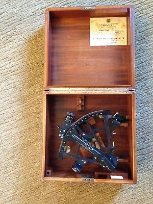 Vintage WWII US Navy BuShips Mark II Sextant by Pioneer/Bendix -  with Case