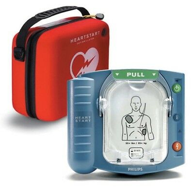 Philips HeartStart OnSite and Home AED Defibrillator with Red Case