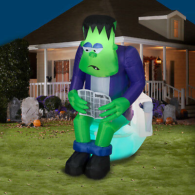 6 ft. Halloween Inflatable Surprise Monster Toilet Scene with Sound and Sensor