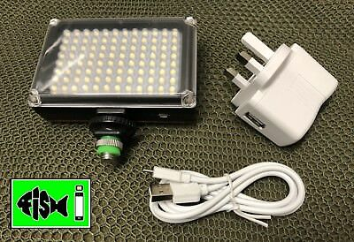 Rechargeable 96 Led Camera Light. Inc Adaptor. Battery. Uk Plug And Usb Cable.