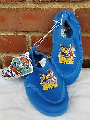 2405f57edf59 PAW PATROL Blue Toddler Boys  Aqua Water Shoes Socks Pool Beach Shoes SIZE 7