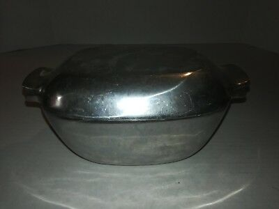 Nambe Metal 13 Roaster Covered Casserole 11x5 Inches Cast Aluminum