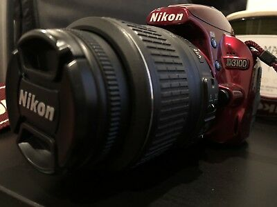 Nikon D D3100 14.2MP Digital SLR Camera - Red (Kit w/ AF-S DX VR 18-55mm Lens)