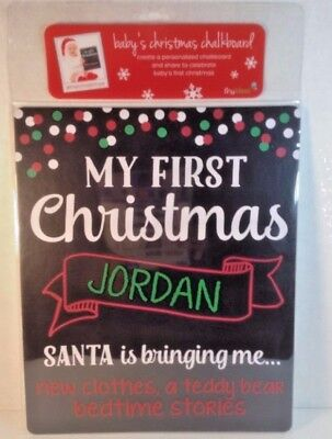 Tiny Ideas Babys My First Christmas Personalize Chalk Board