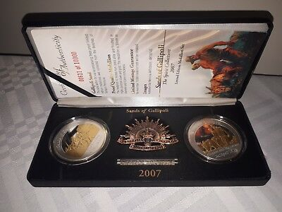 2007 Sands Of Gallipoli Set Of Two Limited Edition Medallions