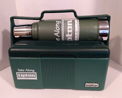 Vintage Lipton Tea Thermos Cooler Lunchbox Aladdin Stanley Advertising A944DH