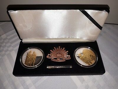 2008 Sands of Gallipoli Set of Two Limited Edition Medallions