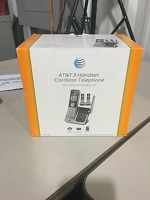 New AT&T CL81301 DECT 6.0 Cordless Phone Silver Grey Caller Waiting 3 Handsets