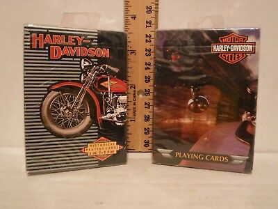 Harley Davidson Historical playing cards 1903-1950 & HD Custom Deck Front & Back