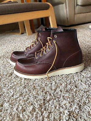 ecdecee2825 RED WING HERITAGE 8138 Moc Toe Briar Oil Slick Leather Work Boots