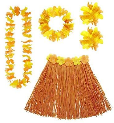 (TG. One Size) Video Delta Set Costume Hawaiano Arancione - NUOVO