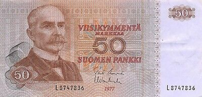 Finland  50  Markkaa  1977  Series L  Circulated Banknote Tom10