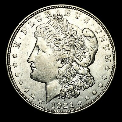 1921 D ~**ABOUT UNCIRCULATED AU**~ Silver Morgan Dollar Rare US Old Coin! #574