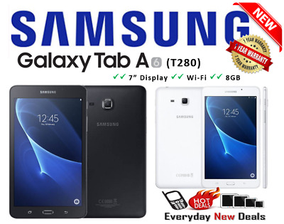 New Samsung Galaxy Tab A SM-T280 Tablet 7-Inch WiFi Voice Calling - 2 Colours