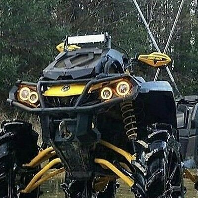 Can Am Outlander Gen 2 Halos rings lights set 4 - YELLOW also XMR s Canam