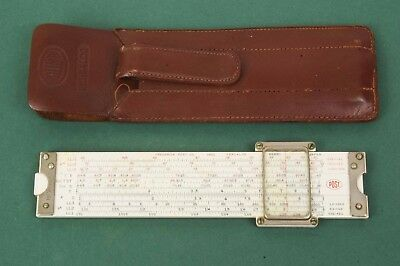 Vintage Post 1461 Versalog Hemmi Pocket Slide Rule with Case