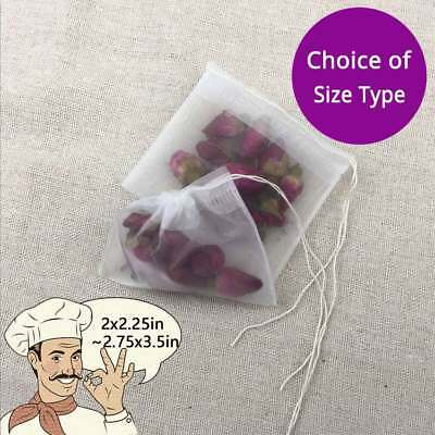 Assorted Sizes Nylon Empty Teabags Loose Herbs Tea Bags with Drawstring