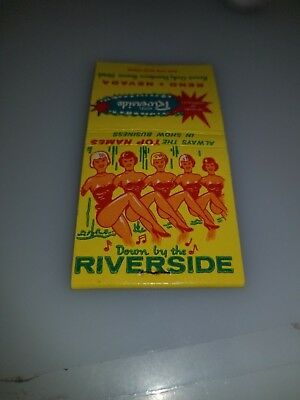 Vintage Matchbook From Reno Nevada From Hotel Riverside Reno