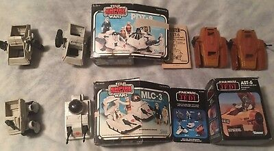Vintage Kenner Star Wars ESB ROTJ MIB Mini Rigs Lot PDT-8 AST-5 MLC-3 MTV-7