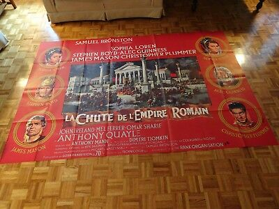Sophia Loren, Alec Guinness Fall Of The Roman Empire 1964 French Two Panel