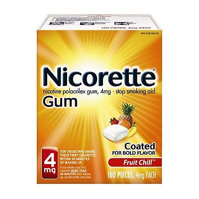 Nicorette Gum 4mg Fruit Chill 100 Count NEW IN BOX SEALED