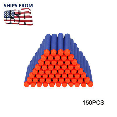 150Pcs Refill Foam Darts For Nerf N-strike Elite Series Blasters Toy Gun