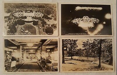 (4) 1947 Postcard Lot Lookout Mountain Hotel Chattanooga, TN Patio Lobby Pool