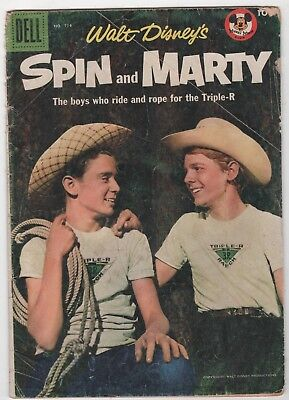 Four Color #714 W. Disney's Spin & Marty In  Good 2.0 (June, 1956, Dell)