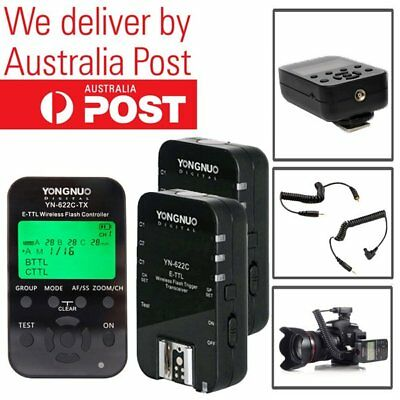 Yongnuo YN-622C-TX Flash Controller ETTL + 2PCS YN-622C Trigger Set for Canon AU