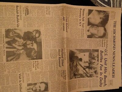 Vintage Newspaper The Richmond News Leader Battle In S. Vietnam Sept. 15, 1967