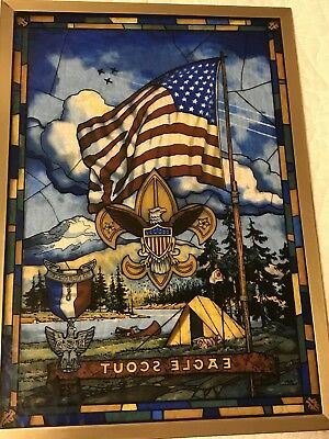jack woodson Stained Glass Window Hanger Boy Scout eagle scout