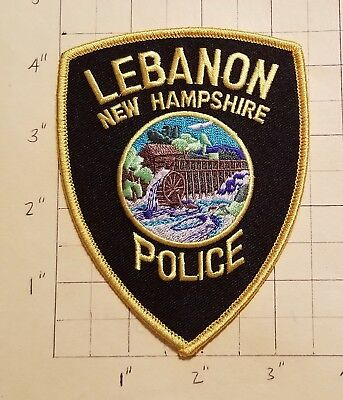 Lebanon (NH) Police Department Patch w/ Presentation Card           ***NEW***