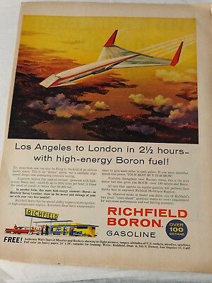 REALLY COOL CONCEPT TRANS CONT High Energy RICHFIELD BORON GASOLINE ADVERTISMENT