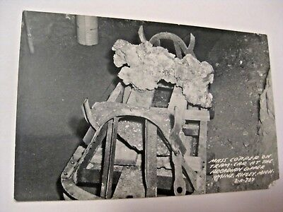 Vintage Mass Copper On Tram Arcadian Copper Mine Ripley Mich Real Photo Postcard