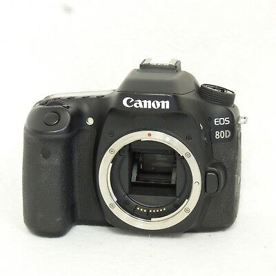 Canon EOS 80D 24.2MP Digital SLR Camera Body Only Black 1263C004