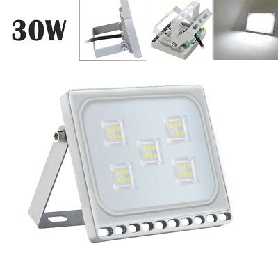30W Slim LED Floodlight Outdoor Security Lamp Super Bright Spot Cool White