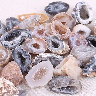 Mini Natural Agate Geodes Halves Slice Stone Grade A DIY Home Decor Jewelry 1PC