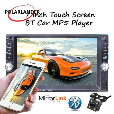 """6.5"""" 2Din MP5 Player  Stereo Car Radio Bluetooth Touch Screen  USB/AUX/FM Camera"""