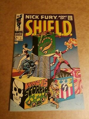 1968 Marvel Comic No# 1 Nick Fury Agent Of Shield