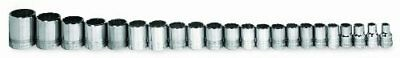 Williams MSB-20HRC 20-Piece 3/8-Inch Drive Metric Shallow 6 Point Socket Set